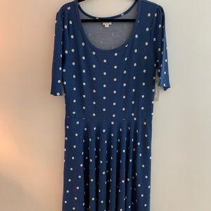 Lularoe Nicole dress size 3xl polka dots!